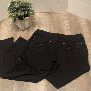 Seven7 black sequin skinny pants size 12